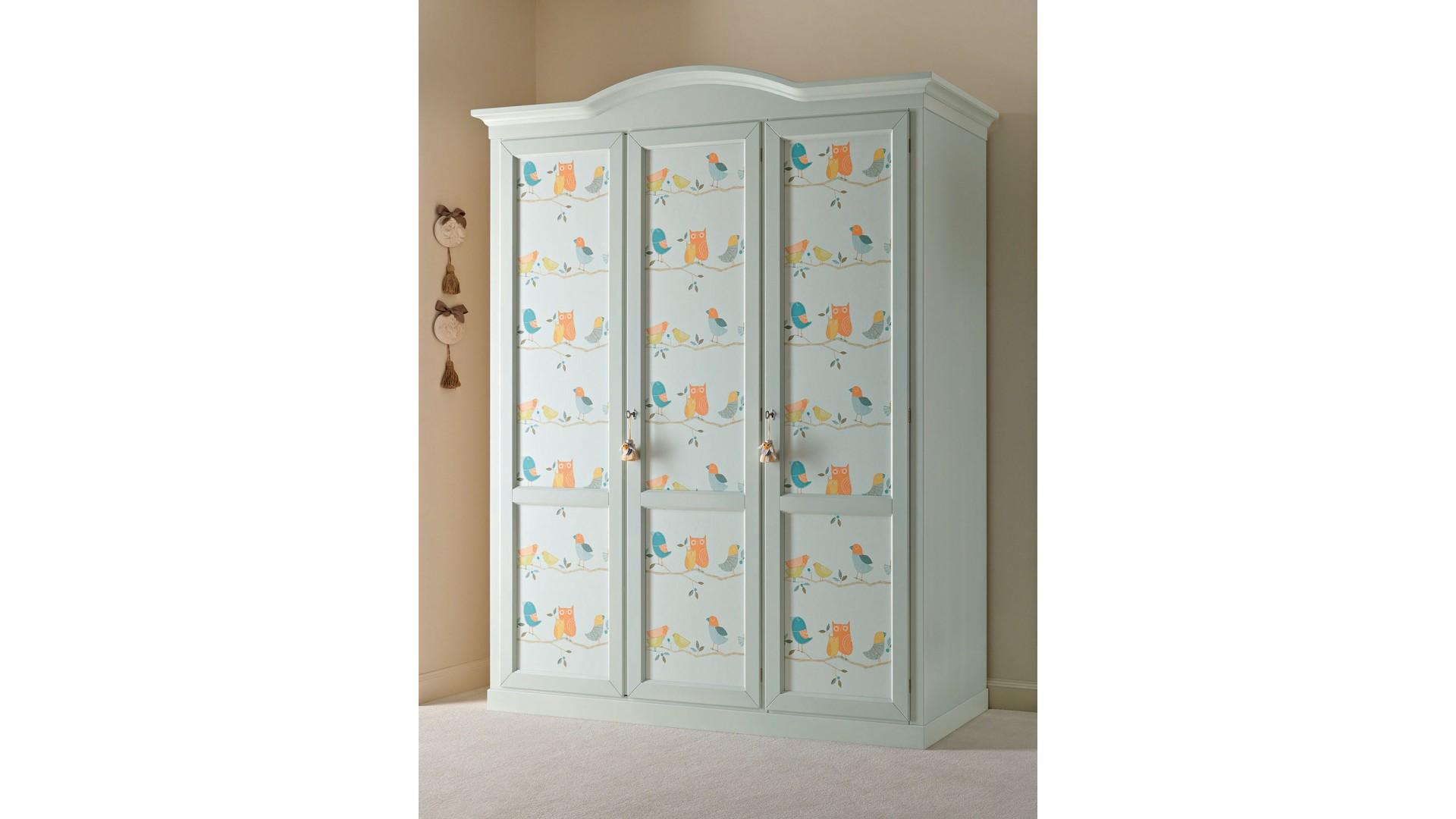Armoire penderie PERSONNALISABLE 3 portes avec décor- PIERMARIA