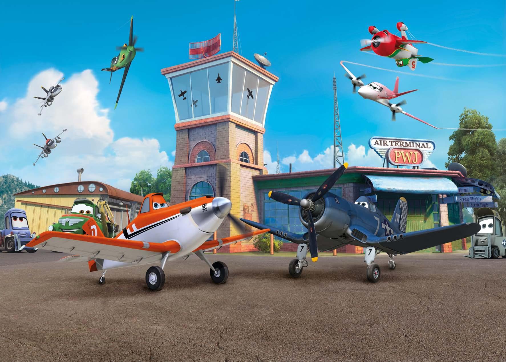 Poster XXL PLANES au terminal - Panoramique Disney - KOMAR