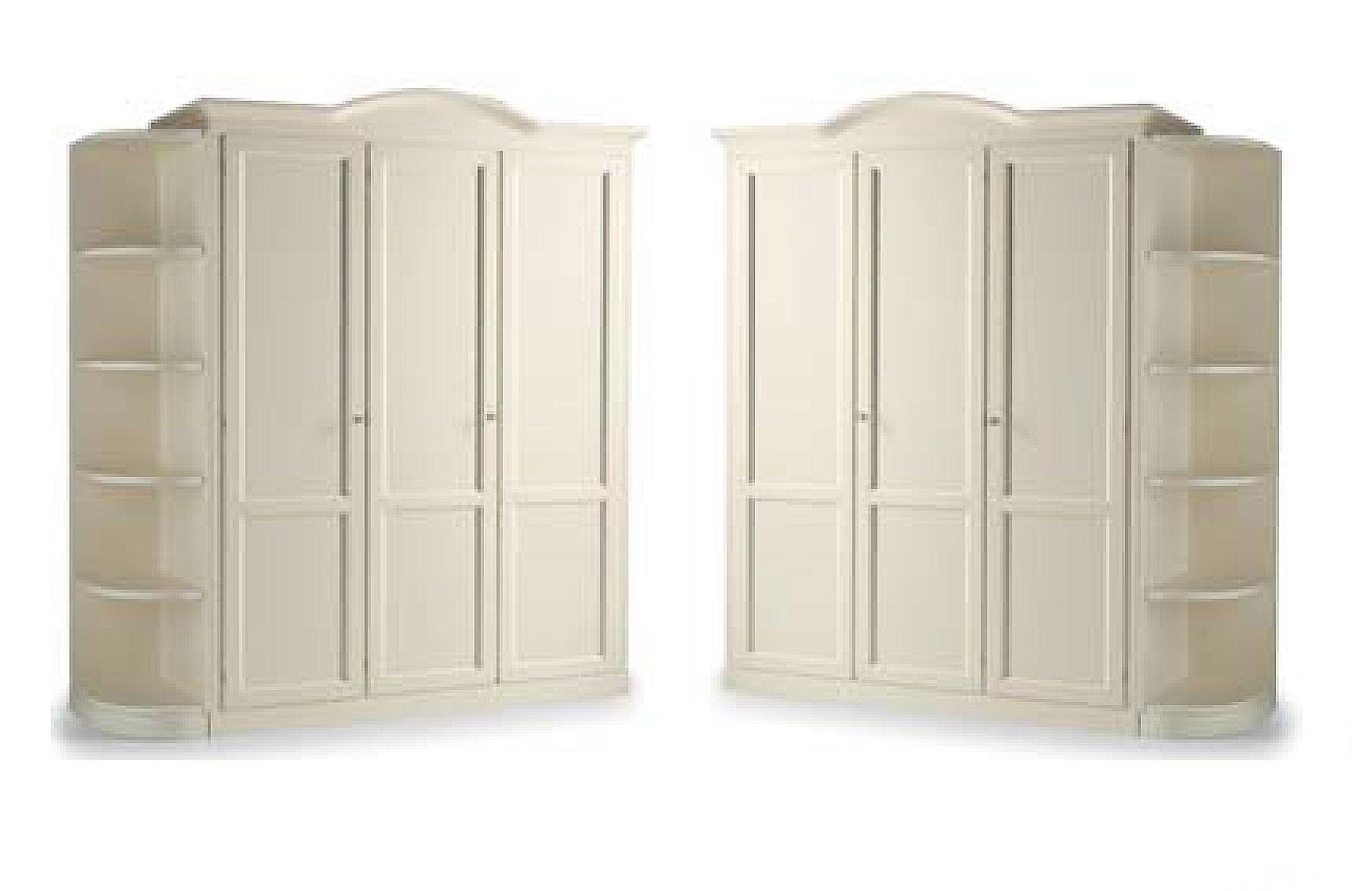 Armoire penderie 3 portes avec biblioth que cr me - Bibliotheque avec portes ...