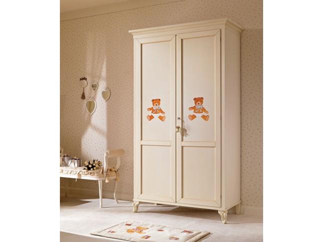 Armoire penderie PERSONNALISABLE 2 portes avec décor et liseret - PIERMARIA
