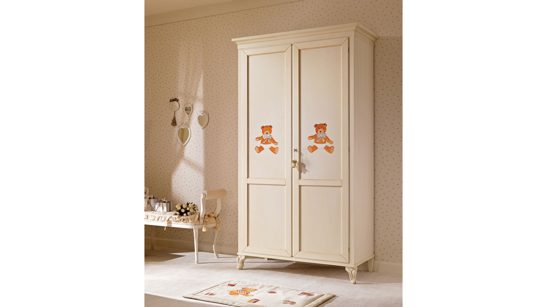 armoire penderie 2 portes pour la chambre enfant piermaria so nuit. Black Bedroom Furniture Sets. Home Design Ideas
