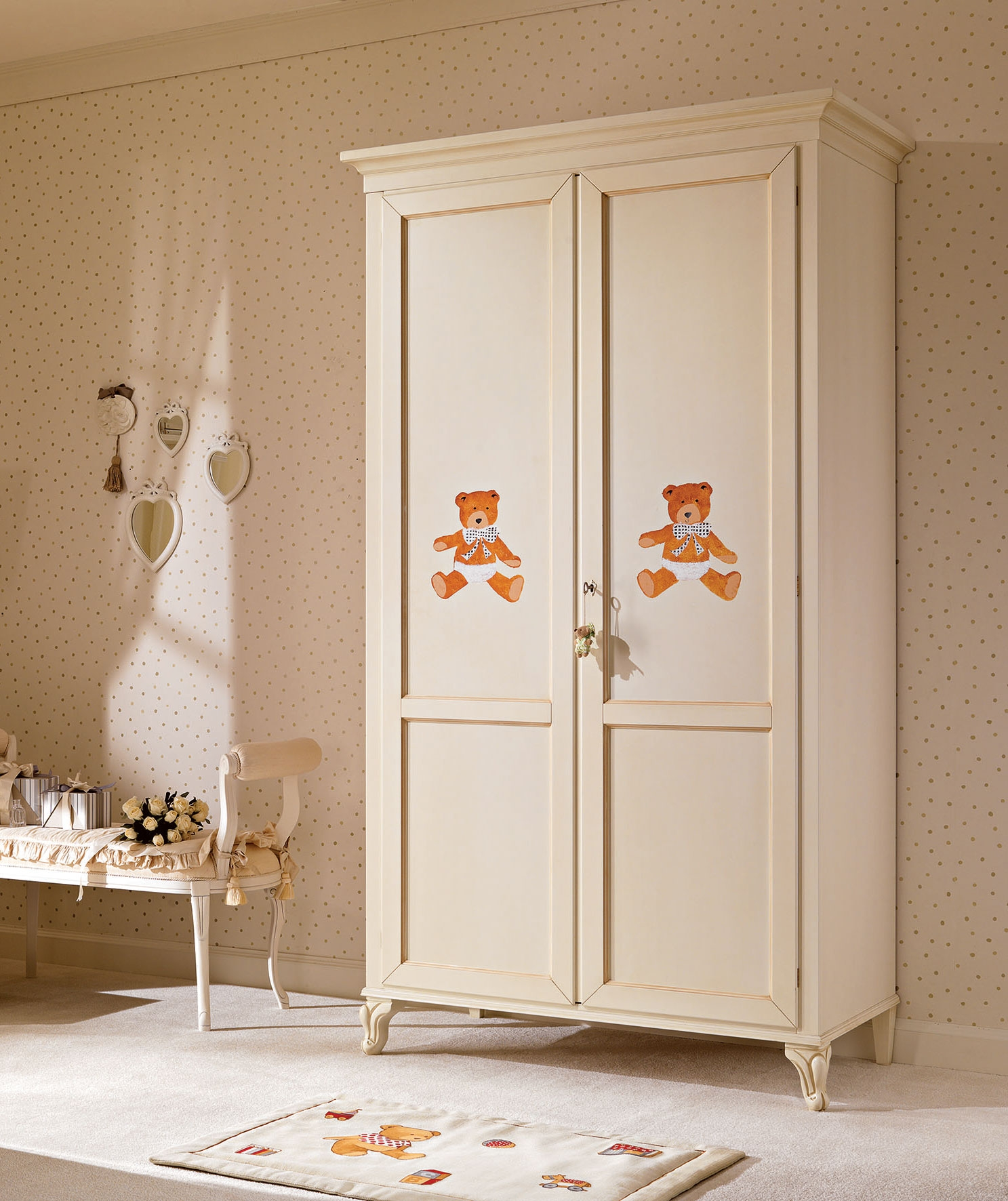 armoire penderie 2 portes pour la chambre enfant. Black Bedroom Furniture Sets. Home Design Ideas