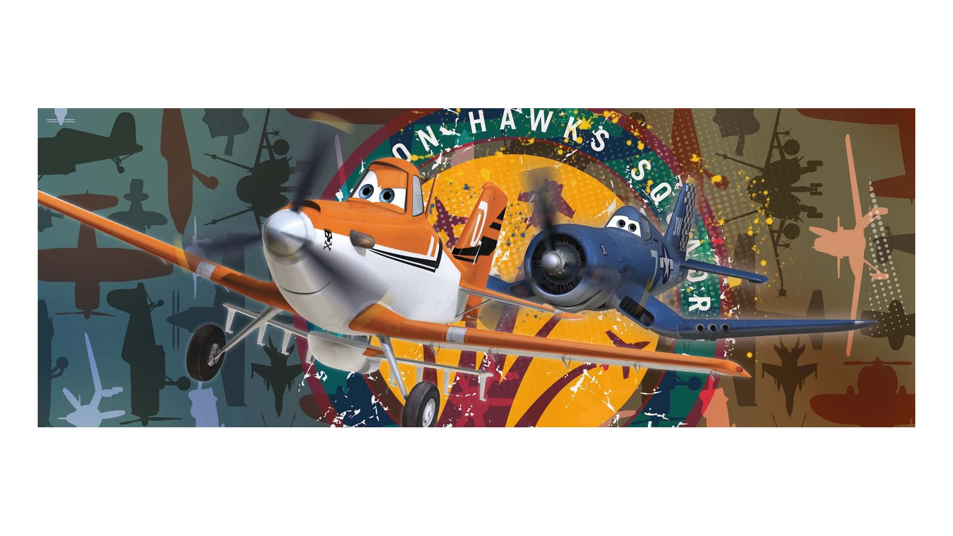 Poster mural Planes Squadron - Panoramique Disney - KOMAR