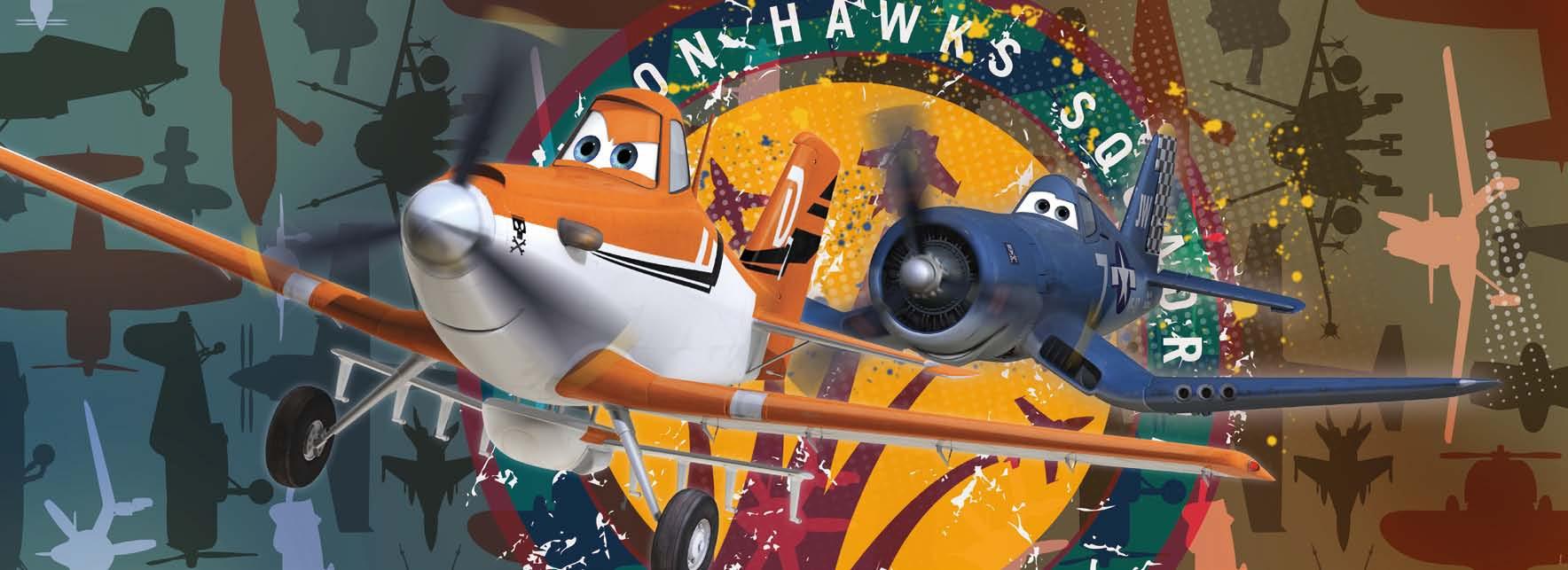 Poster mural Planes Squadron - Panoramique Disney - KOMAR