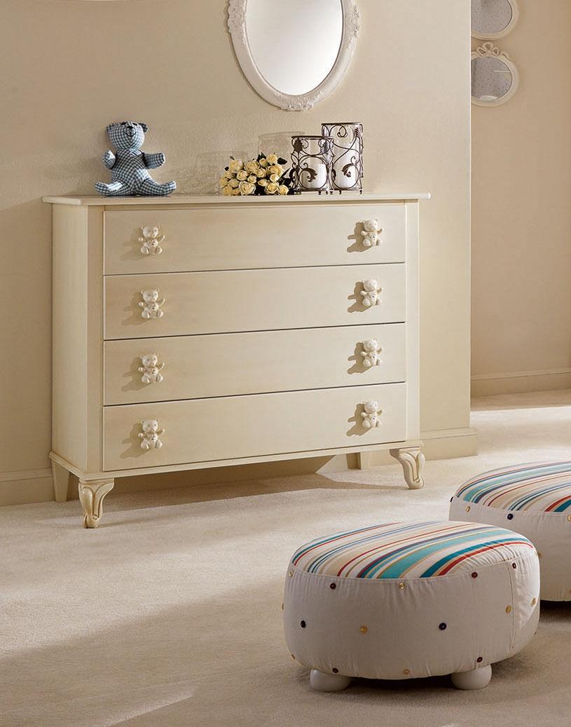 commode 4 tiroirs laqu mat rose et bouton fleur. Black Bedroom Furniture Sets. Home Design Ideas