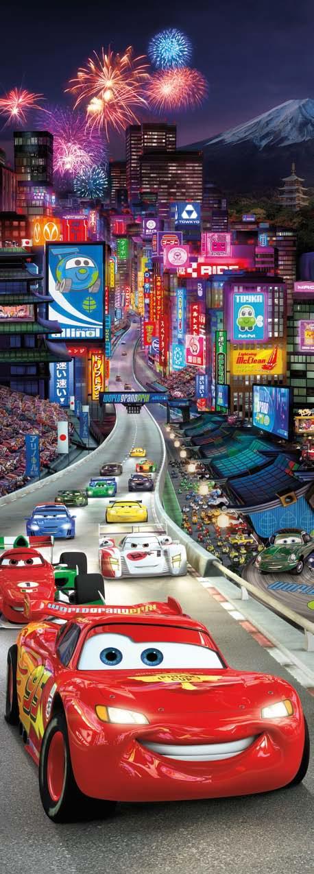 Poster mural CARS à Tokyo - Panoramique Disney - KOMAR