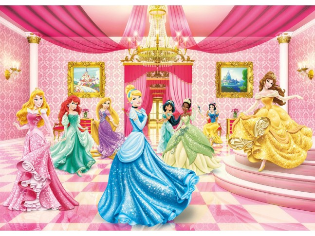 "Poster XXL Princesses Disney ""le bal des Princesses"" - Panoramique Disney - KOMAR"