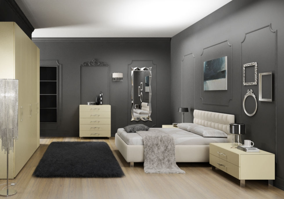 chambre adulte compl te moderne pur e moretti compact. Black Bedroom Furniture Sets. Home Design Ideas