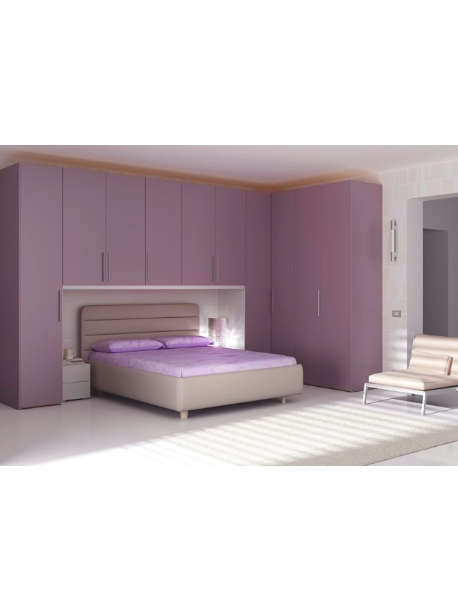 lit double nuvola l avec t te de lit arrondie piermaria so nuit. Black Bedroom Furniture Sets. Home Design Ideas