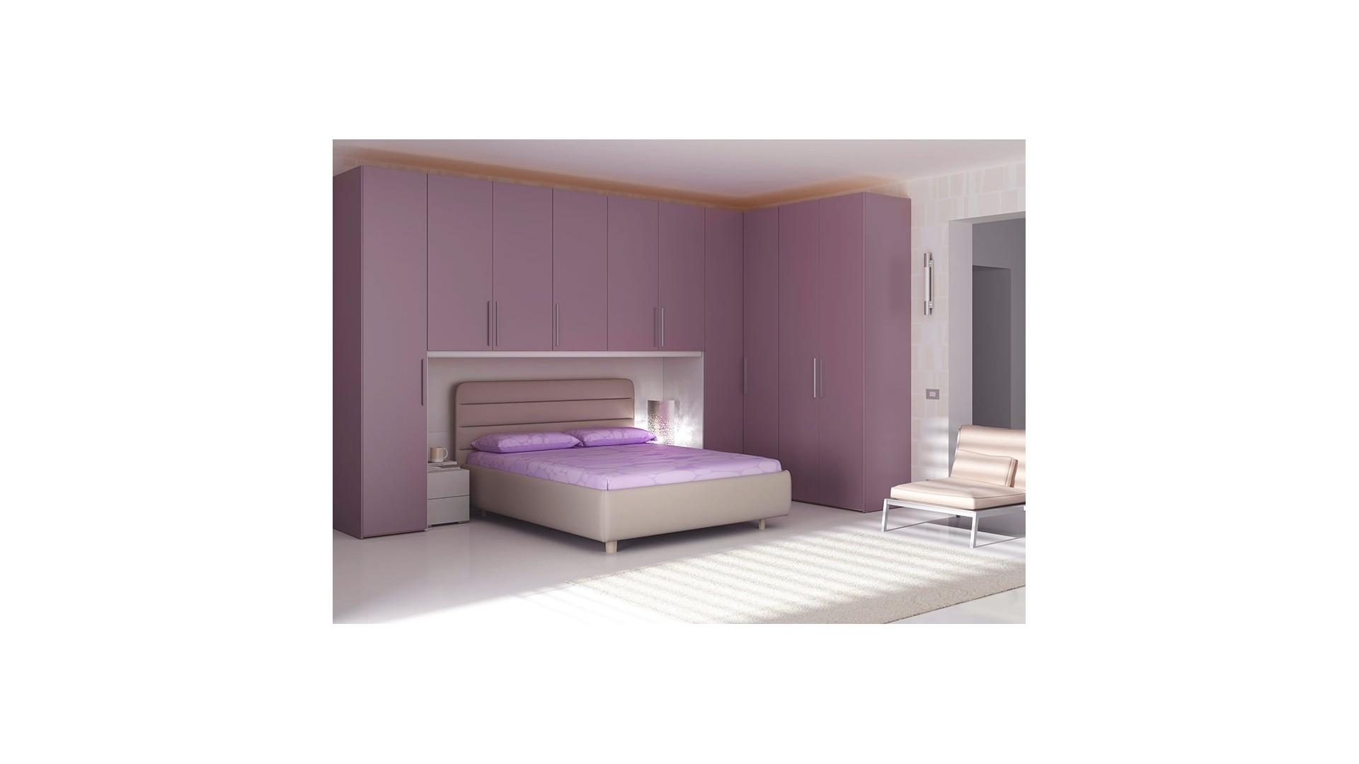 chambre adulte compl te avec pont design moretti compact so nuit. Black Bedroom Furniture Sets. Home Design Ideas