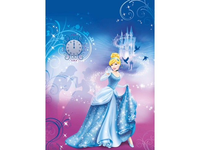 "Poster mural Princesses DISNEY ""la nuit de Cendrillon"" - Panoramique Disney - KOMAR"