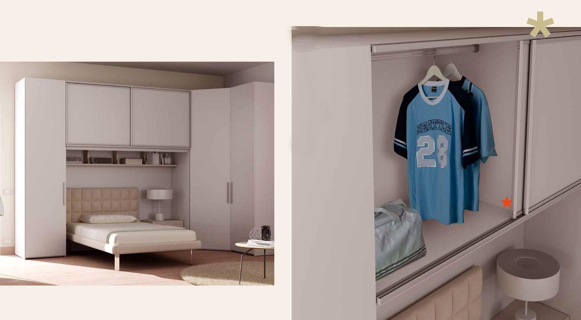 Chambre ado complète lit 1 personne design - MORETTI COMPACT - SO NUIT