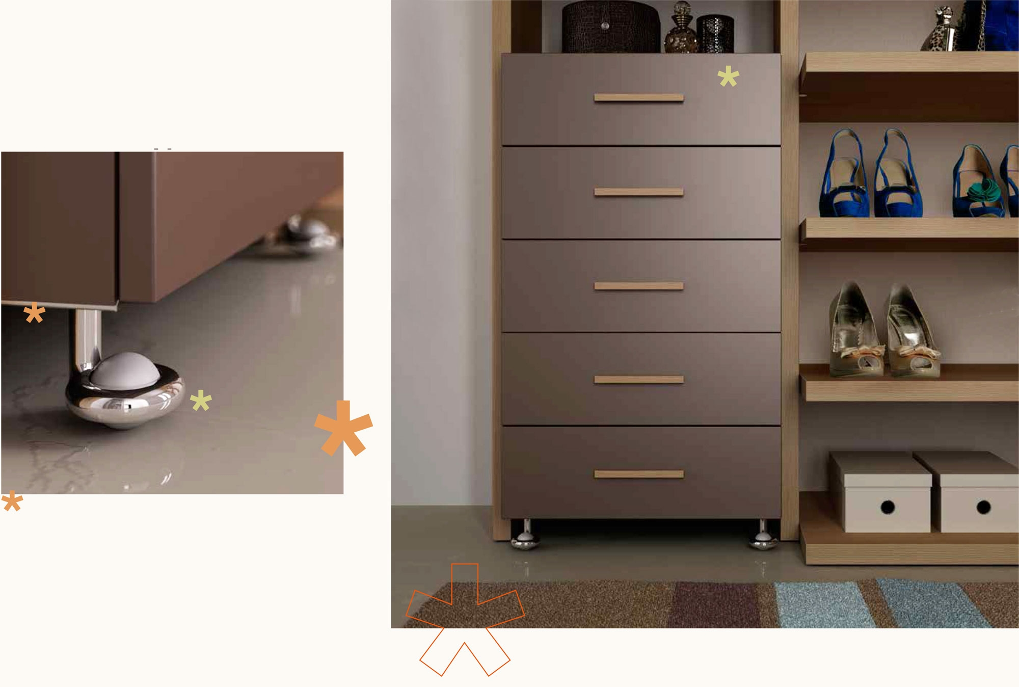 dressing sur mesure en l olme chocolat moretti compact. Black Bedroom Furniture Sets. Home Design Ideas