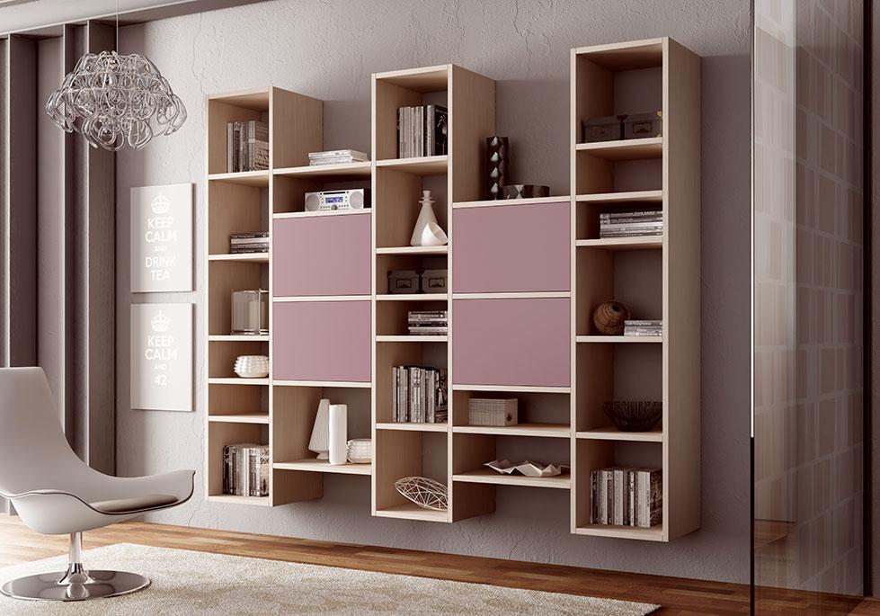 Biblioth que design suspendue moderne moretti compact - Bibliotheque avec portes ...