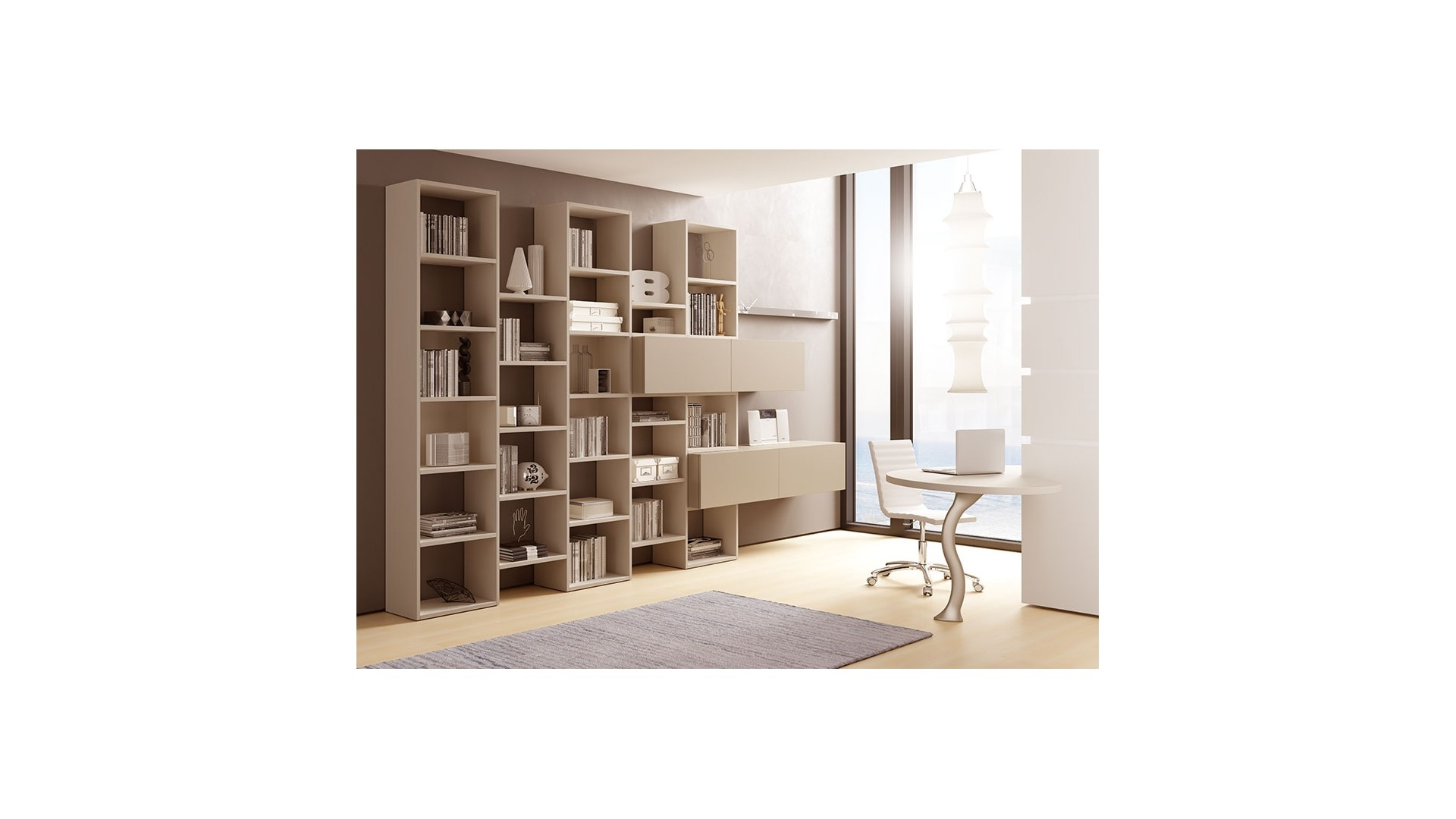 biblioth que design ultra moderne unique moretti compact so nuit. Black Bedroom Furniture Sets. Home Design Ideas
