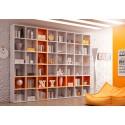 Bibliothèque Design PERSONNALISABLE AL14 avec niches Wall Box en couleur - MORETTI COMPACT