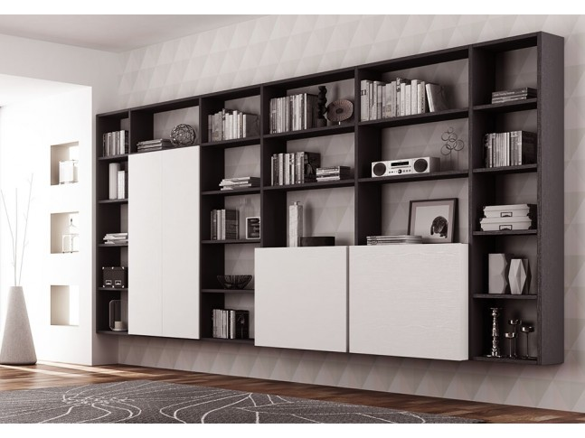 Meuble biblioth que design carr et suspendu moretti for Meuble bibliotheque design