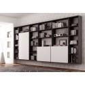Bibliothèque design PERSONNALISABLE AL16 suspendue avec portes ouverture push-pull - MORETTI COMPACT