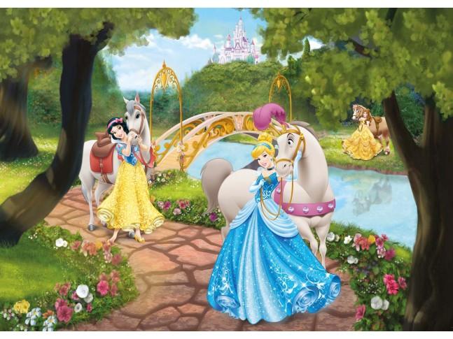 Poster mural Princesses Disney en ballade - Panoramique Disney - KOMAR