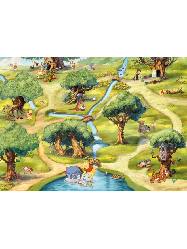 poster mural winnie l 39 ourson panoramique disney komar so nuit. Black Bedroom Furniture Sets. Home Design Ideas