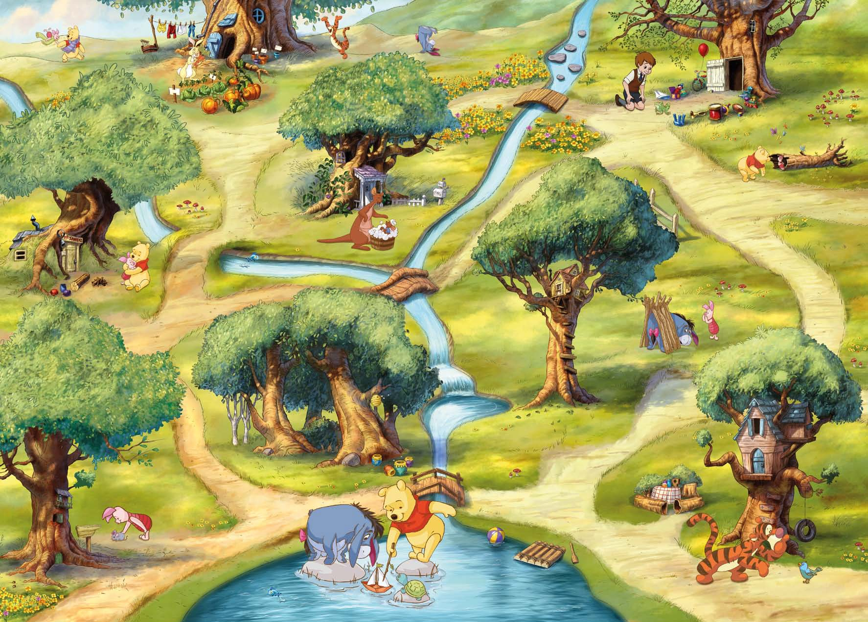 Poster mural Le Monde De Winnie l'Ourson - Panoramique Disney - KOMAR