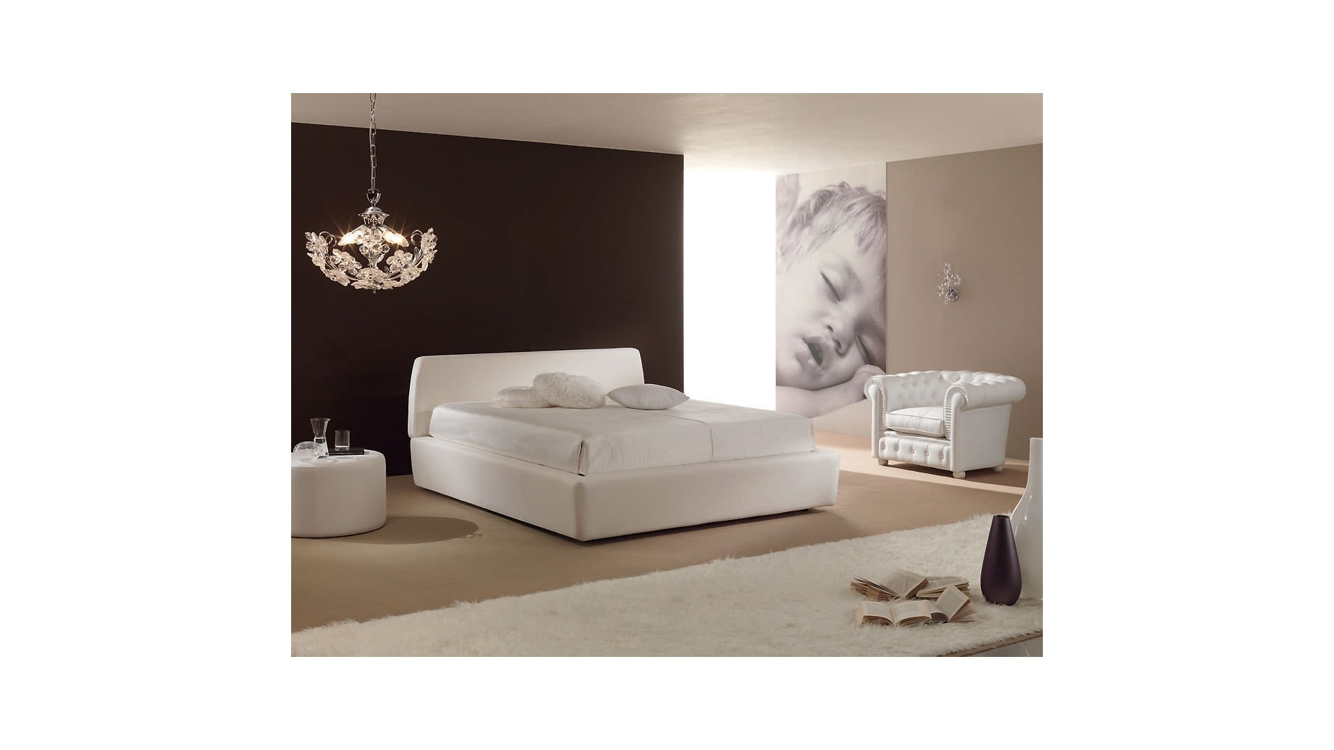 lit 2 places pour une chambre adulte distingu e piermaria so nuit. Black Bedroom Furniture Sets. Home Design Ideas