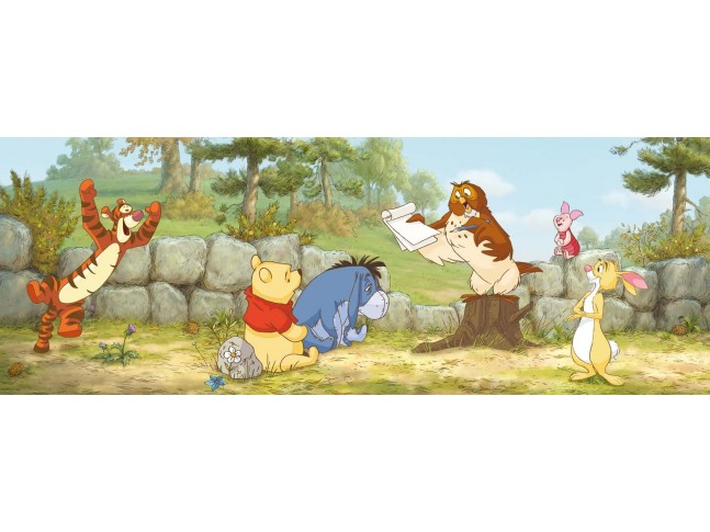 Poster mural Winnie l'Ourson à l'école  - Panoramique Disney - KOMAR