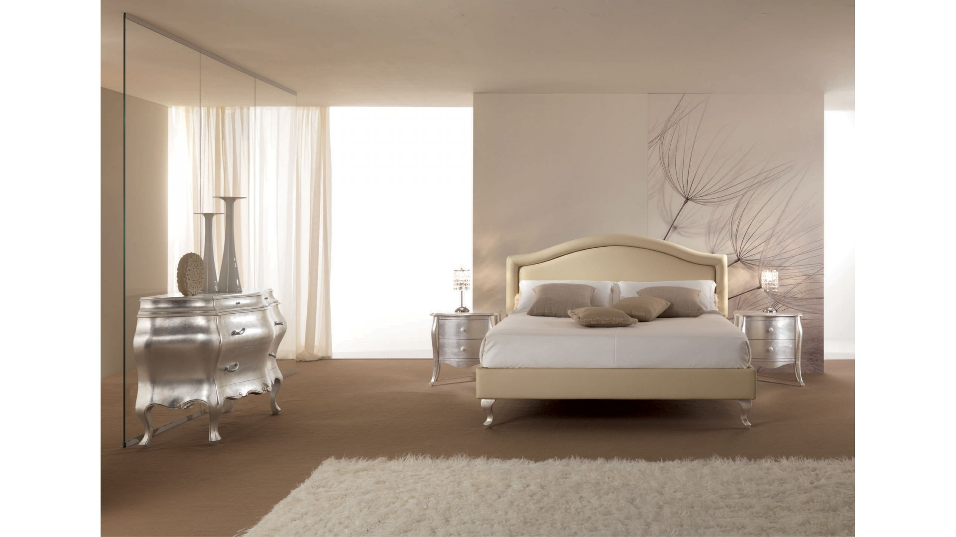 lit 2 places entierement recouvert de cuir beige piermaria so nuit. Black Bedroom Furniture Sets. Home Design Ideas
