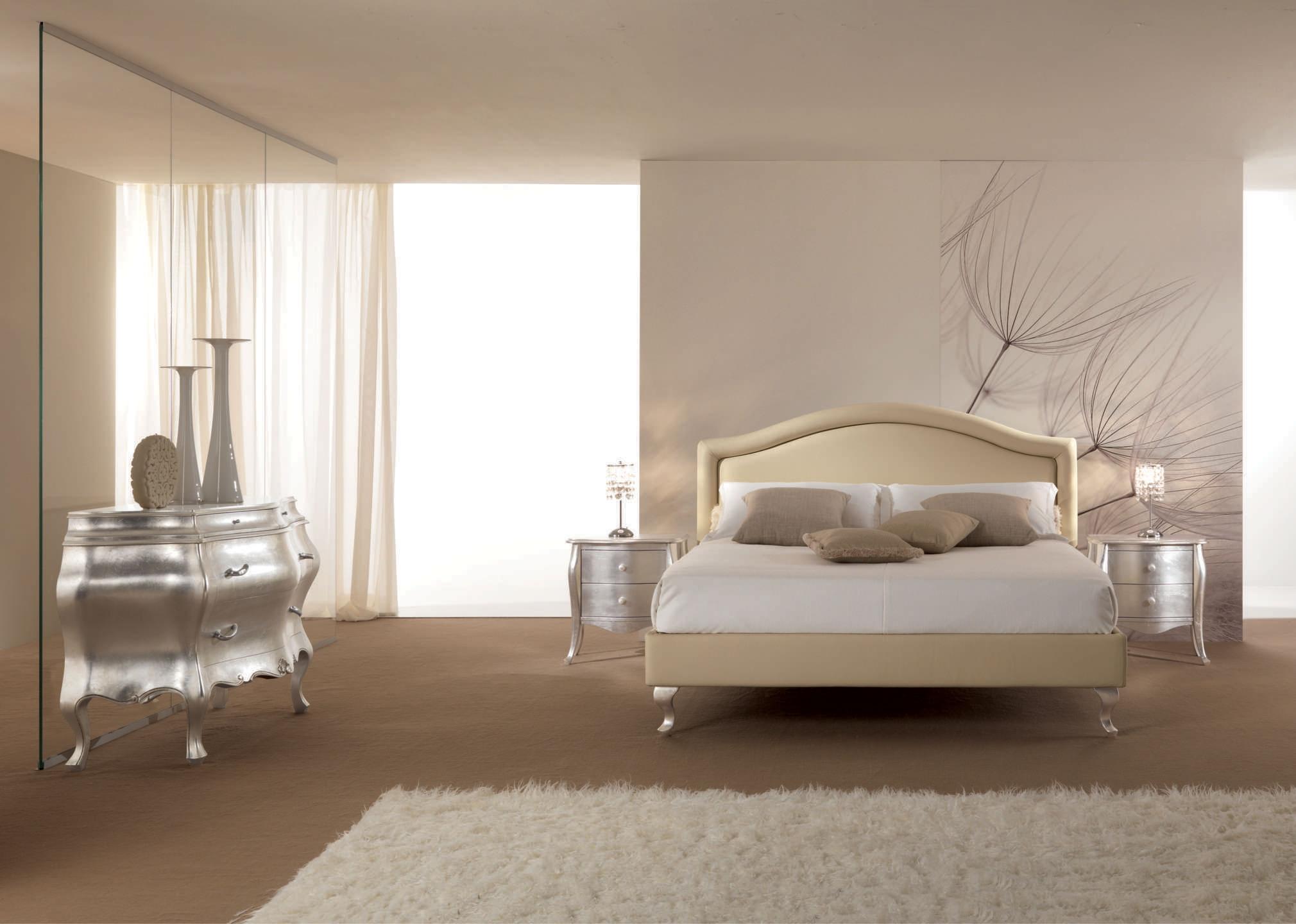 lit 2 places entierement recouvert de cuir beige piermaria so nuit. Black Bedroom Furniture Sets. Home Design Ideas