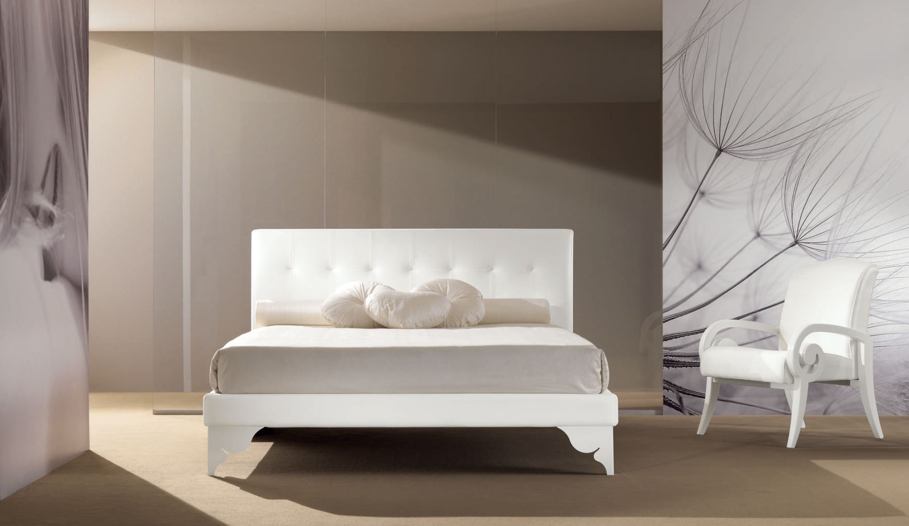 Lit double chambre PERSONNALISABLE Ivory- PIERMARIA