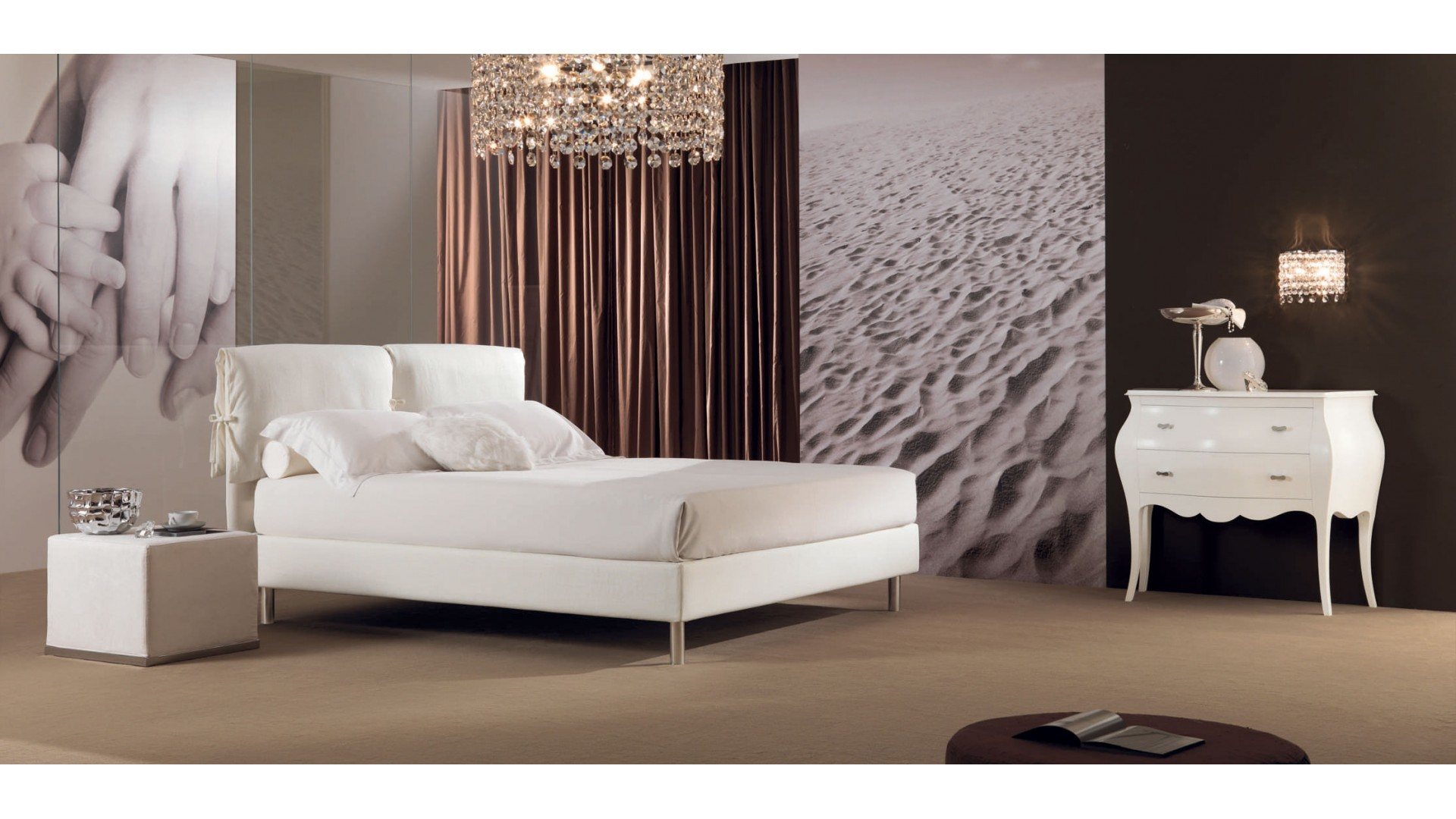 Lit double chambre adulte PERSONNALISABLE Ariana - PIERMARIA