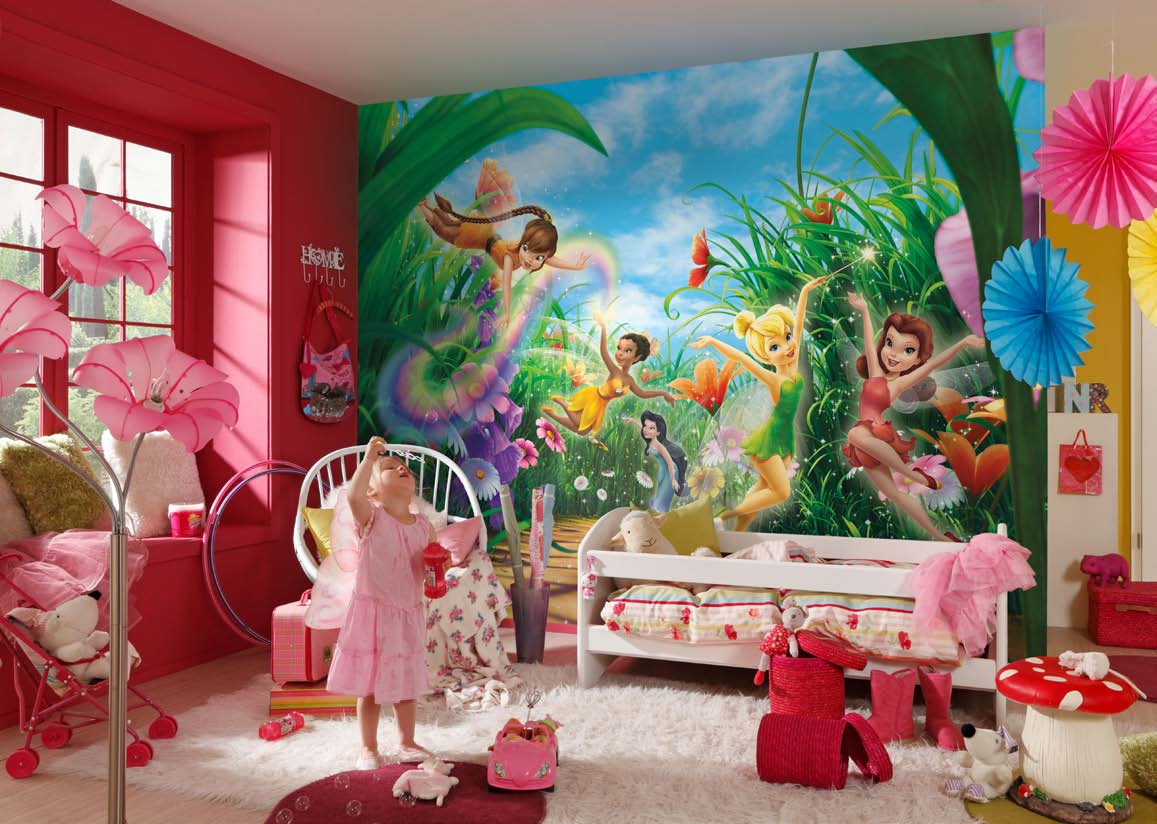 poster xxl la f e clochette panoramique disney komar so nuit. Black Bedroom Furniture Sets. Home Design Ideas
