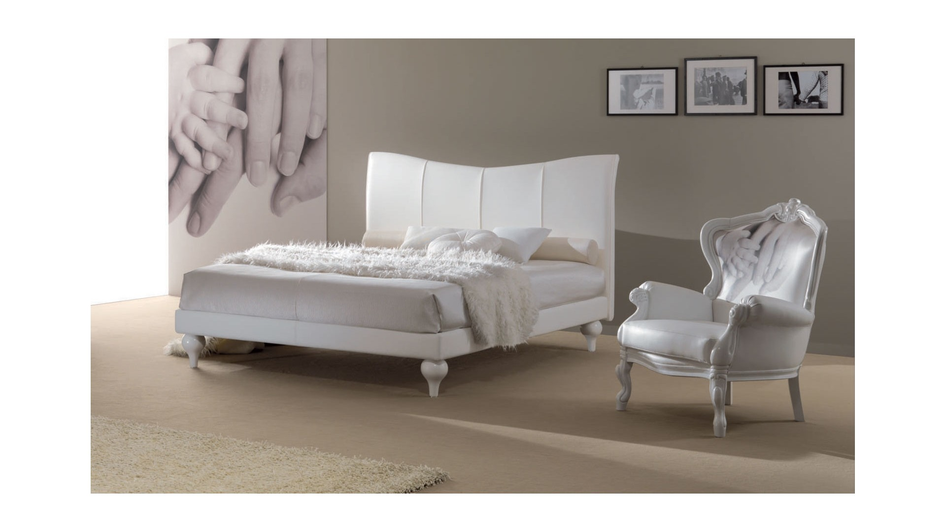 lit double margaret avec un couchage de 160x190cm piermaria so nuit. Black Bedroom Furniture Sets. Home Design Ideas