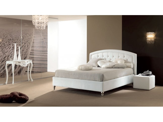 lit 2 places avec t te de lit beige capitonn e piermaria. Black Bedroom Furniture Sets. Home Design Ideas