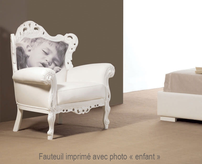 Fauteuil design Mikonos PERSONNALISABLE avec photo - PIERMARIA