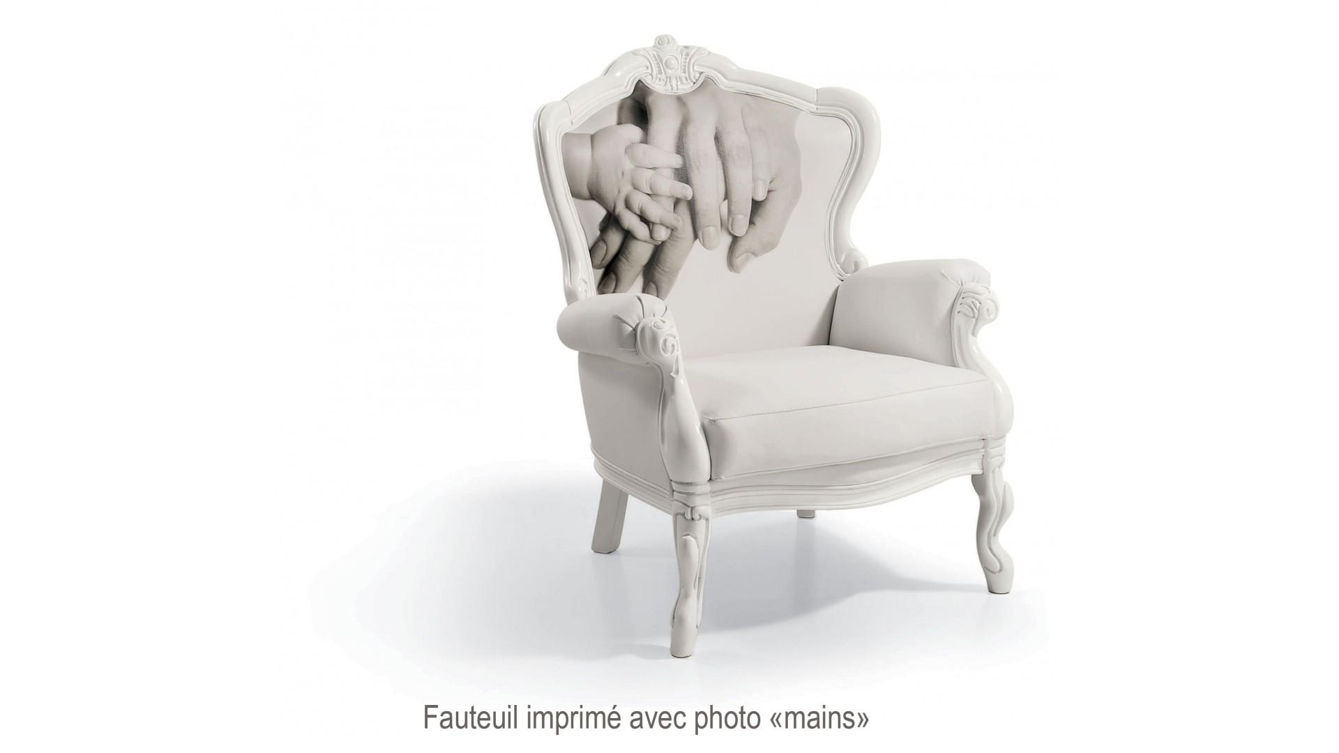 Fauteuil design Elliot PERSONNALISABLE avec photo- PIERMARIA