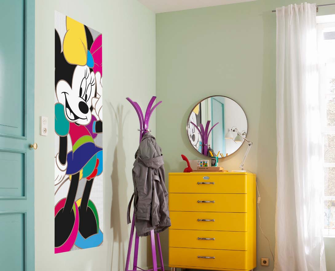 Poster mural minnie color e panoramique disney komar for Decor mural panoramique