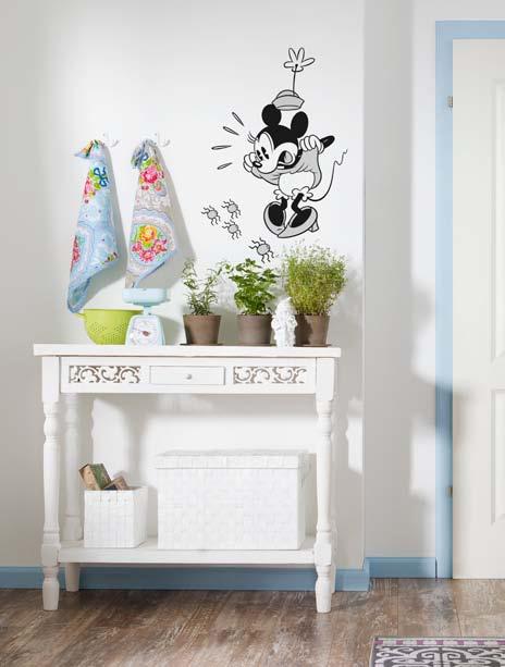 stickers muraux la belle minnie panoramique disney komar. Black Bedroom Furniture Sets. Home Design Ideas