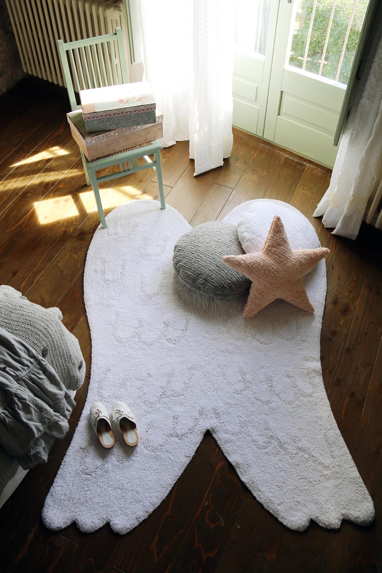 Tapis enfant AILES SILHOUETTE 120x160cm en coton lavable - LORENA CANALS