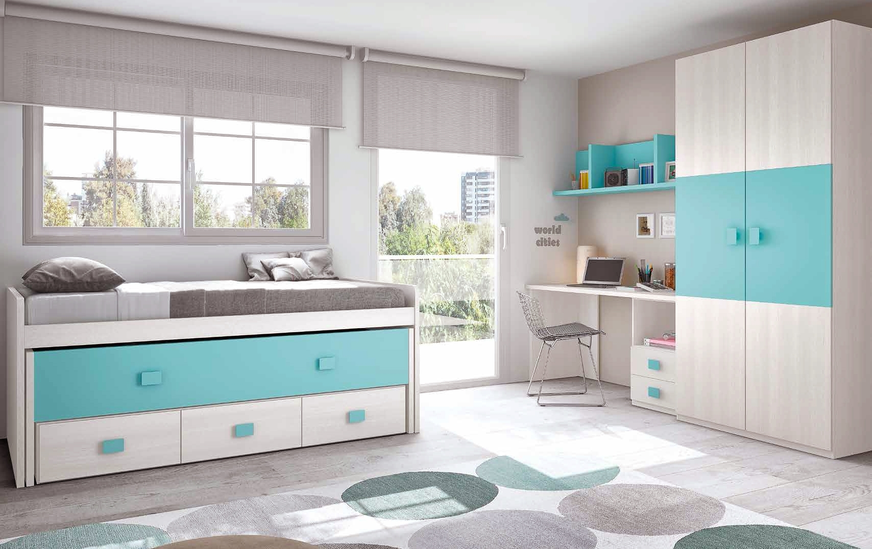 Chambre enfant complete moderne color glicerio so nuit for Chambre enfant design