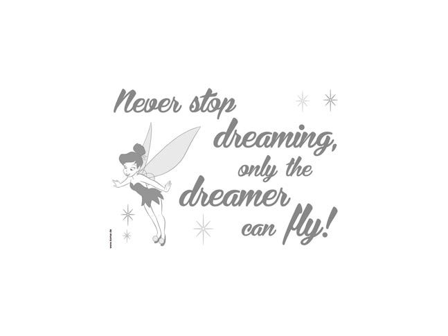 Stickers muraux Never stop dreaming - Panoramique Disney - KOMAR