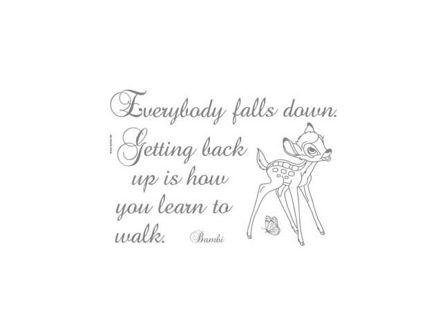 Stickers muraux  Bambi everybody falls - Panoramique Disney - KOMAR