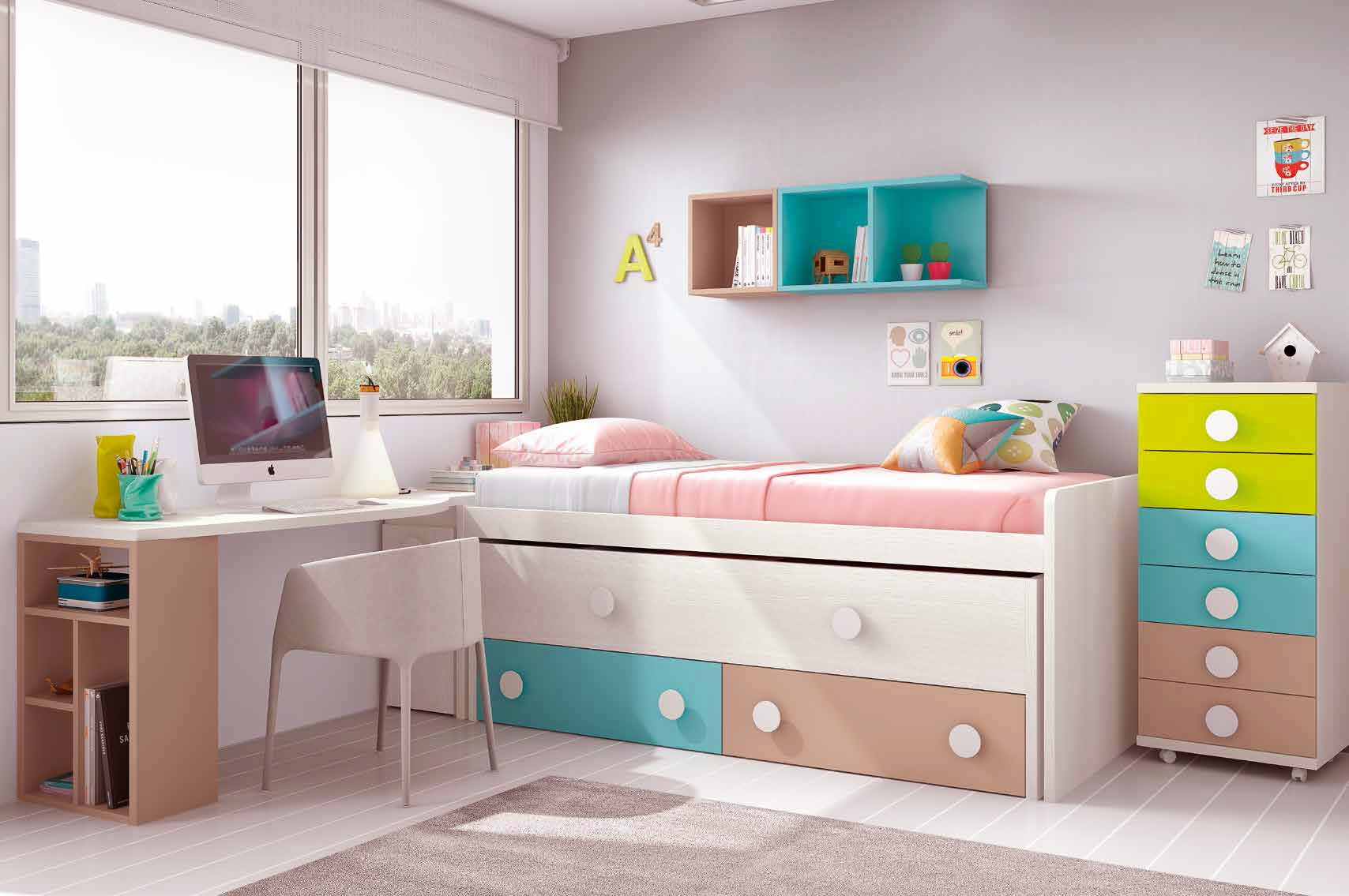 chambre ado design avec lit sur lev color et fun glicerio so nuit. Black Bedroom Furniture Sets. Home Design Ideas
