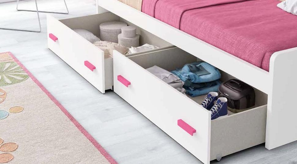 Chambre ado design avec lit surélevè coloré et fun glicerio so