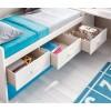 Chambre ado design composition L012 avec lit gigogne - GLICERIO