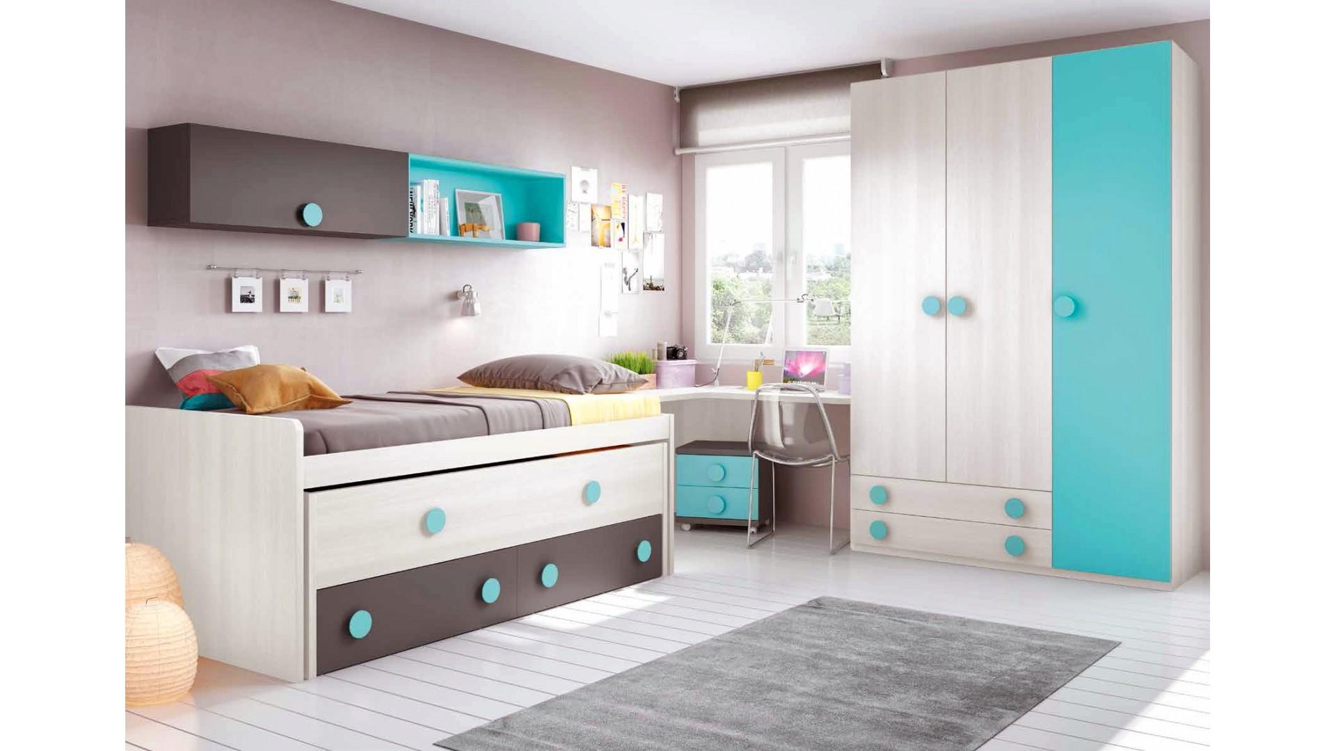 chambre moderne ado complete design et colorée - glicerio - so nuit