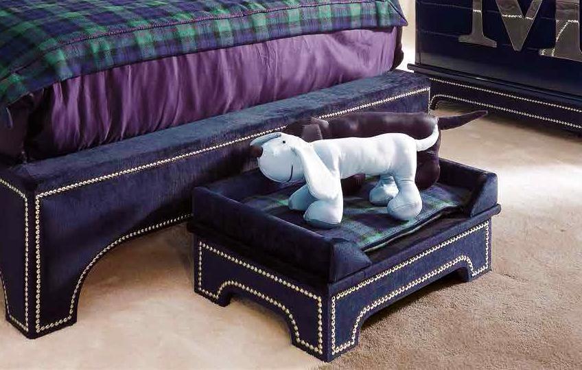 Lit pour chien clouté bleu marine - DOLFI