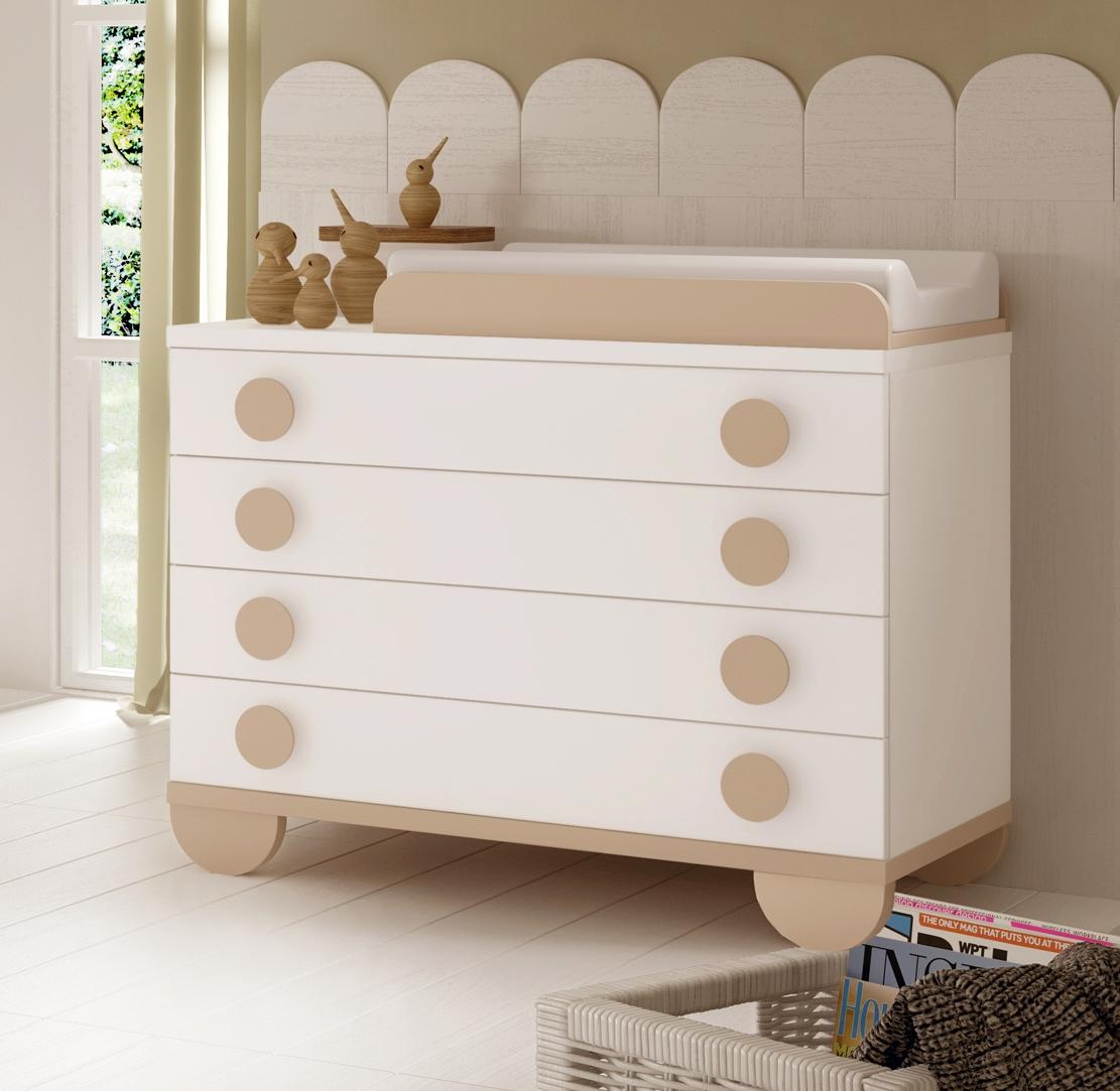 Chambre de b b mixte gioco avec lit et armoire glicerio for Stickers chambre bebe mixte