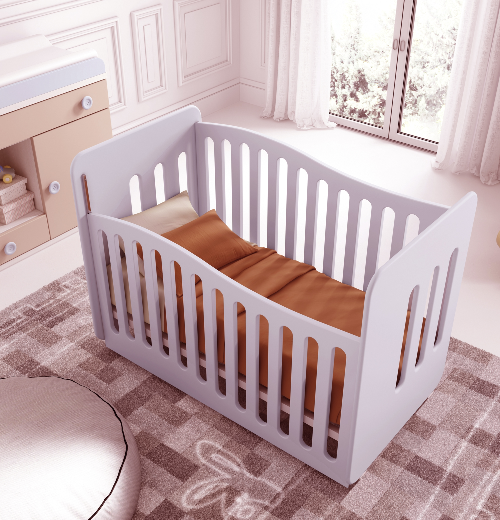 Chambre de bébé mixte Gioco avec lit et armoire GLICERIO SO NUIT