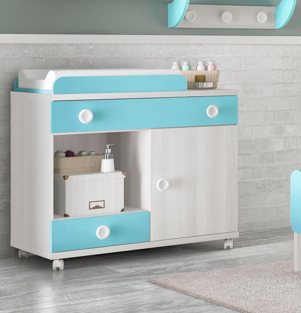 Chambre de b b complete small fun et color e glicerio for Cambiadores para bebes ikea